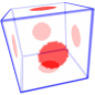 Glass cube effect